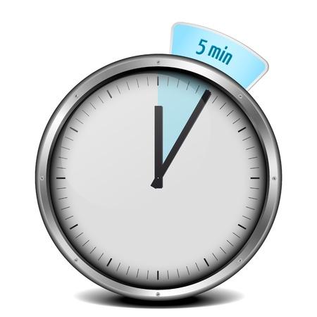metering: illustration of a metal framed 5min timer