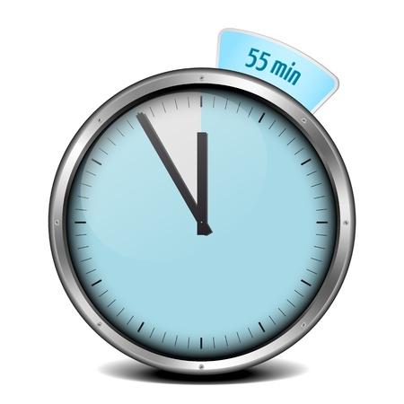 metering: illustration of a metal framed 55min timer Stock Photo