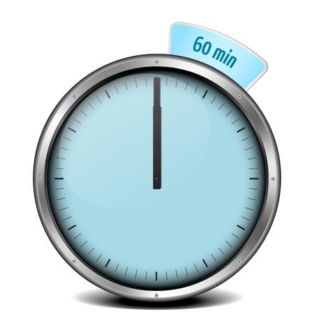 illustration of a metal framed 60min timer Reklamní fotografie