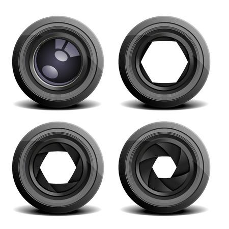 illustration détaillée de lentilles de caméra