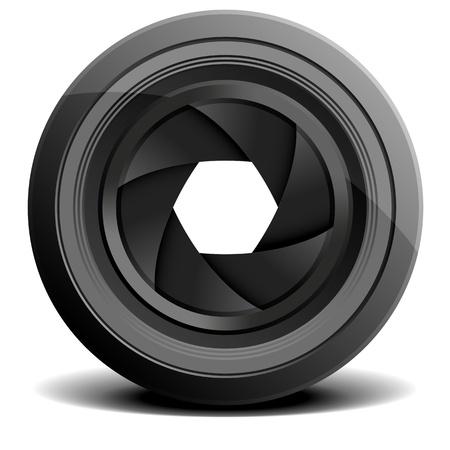 telephoto: detailed illustration of a camera lens Illustration