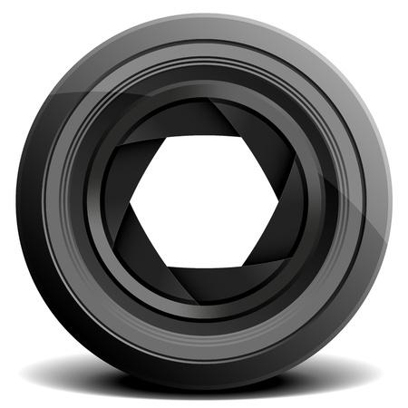 camera lens: detailed illustration of a camera lens Illustration