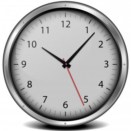 orologio da parete: illustrazione di un orologio con struttura in metallo