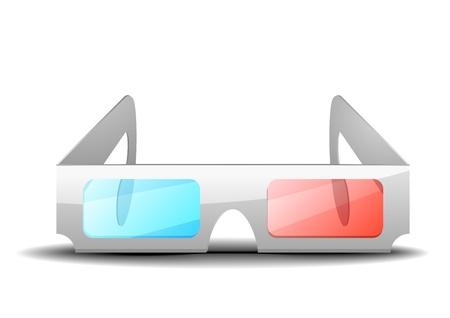 3D glasses: detailed illustration of 3d glasses