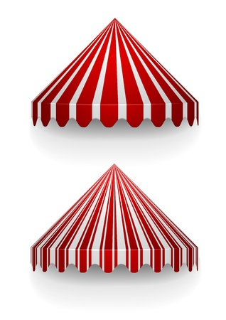 detailed illustration of conical awnings Vector