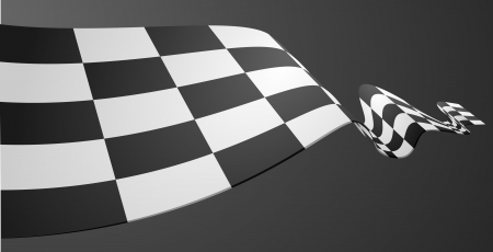detailed illustration of a racing flag on a dark background Ilustrace