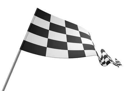 finishing checkered flag: detailed illustration of a racing flag on a white background