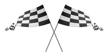 detailed illustration of racing flags on a white background Vector