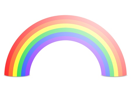 illustration of a rainbow isolated on white Vector