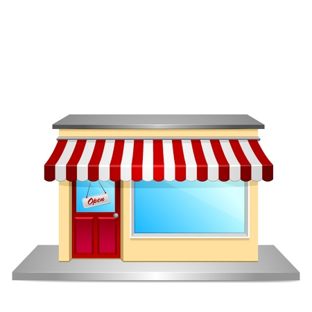 detailed illustration of a store front Vector