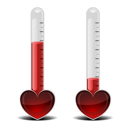 detailed illustration of a love thermometer, valentine Vector