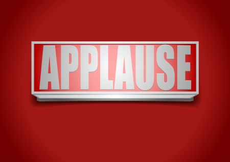 applause: detailed illustration of a red applause sign