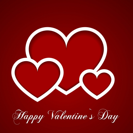 detailed illustration of a valentine's day card Vector