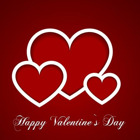 corazon dibujo: ilustraci�n detallada de tarjeta del d�a de San Valent�n