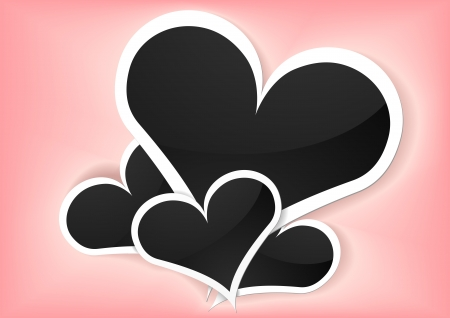 detailed illustration of valentine foto frames with heart shape Vector