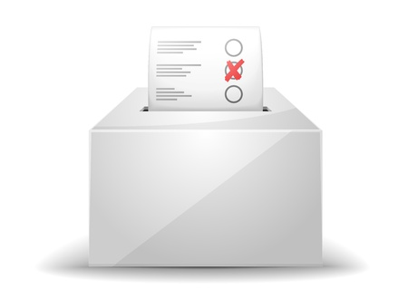 ballot papers: detailed illustration of a ballot box isolated on white Illustration
