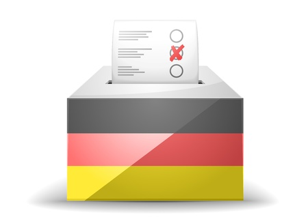 detailed illustration of a ballot box with german flag Vector