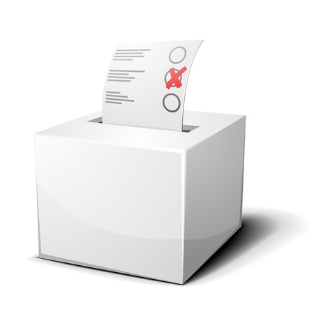 voting ballot: detailed illustration of a ballot box isolated on white Illustration