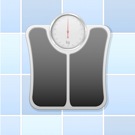 detailed illustration of an analog bathroom scale Stock Vector - 17754529