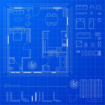 illustration détaillée d'un plan de masse plan avec divers éléments de conception