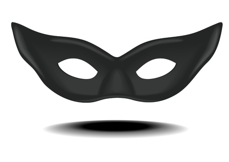 ilustración detallada de una máscara de carnavales negro