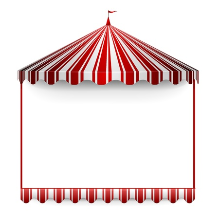 circus stage: detailed illustration of a carnivals frame with a circus tent on top Illustration