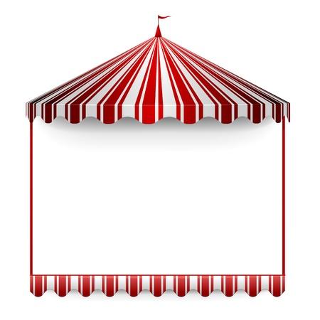 fondo de circo: ilustración detallada de un marco carnavales con una carpa de circo en la parte superior Vectores