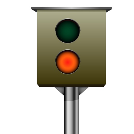 detailed illustration of traffic speed camera Vector