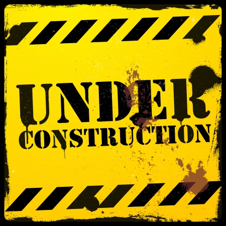 detailed illustration of a grunge under construction background