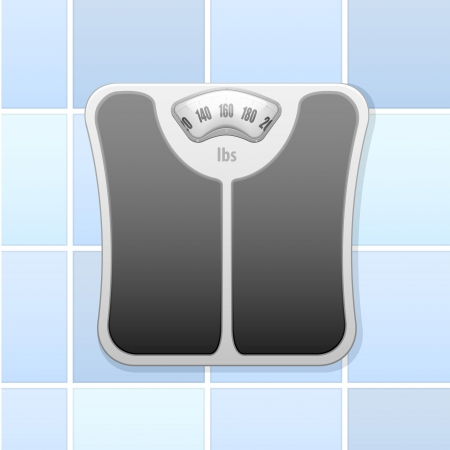 bathroom scale: detailed illustration of an analog bathroom scale Illustration