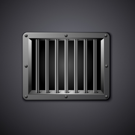 detailed illustration of a prison window Vector
