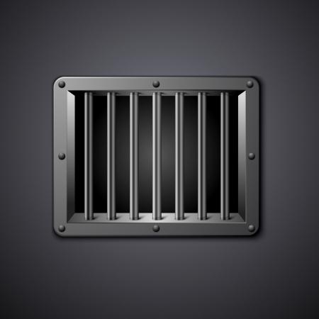incarceration: ilustraci�n detallada de una ventana de la prisi�n