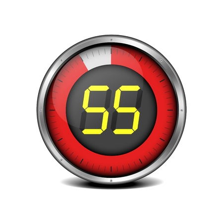 illustration of a metal framed timer with the number 55 Stock Vector - 18689652