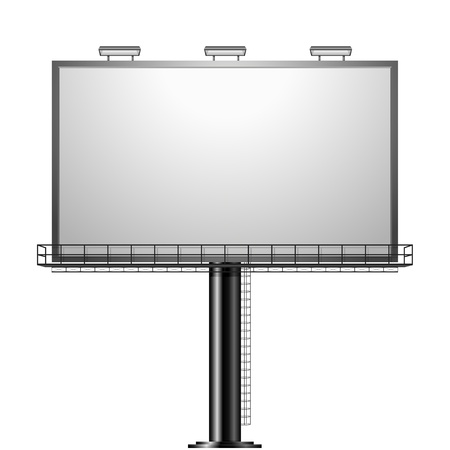 ad space: detailed illustration of a black advertising sign isolated on white Illustration