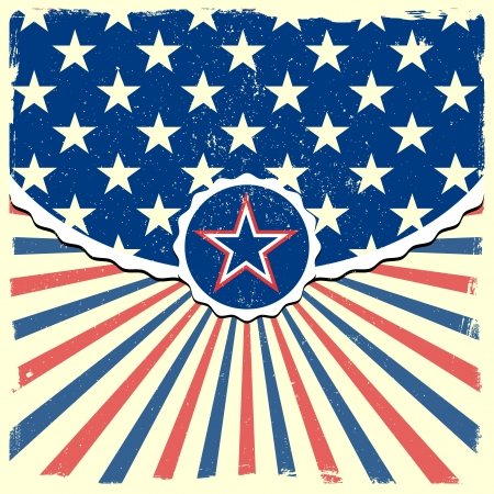 detailed illustration of a star on a patriotic striped background Stock Vector - 20235193