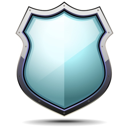 badge shield: detailed illustration of a coat of arms, symbol for security and protection