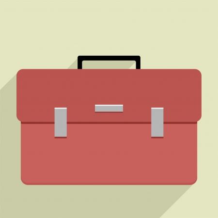 suit case: minimalistic illustration of a business briefcase