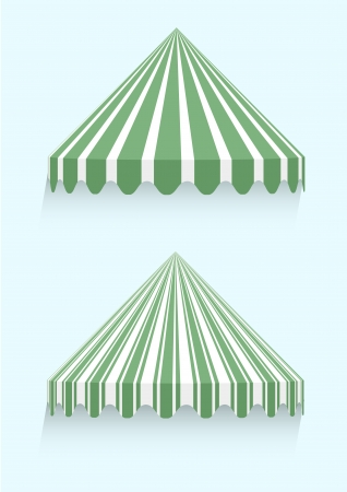 awnings: detailed illustration of conical awnings