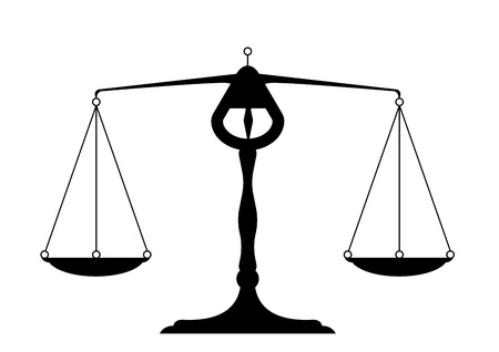 either: detailed illustration of a balance, symbol for justice