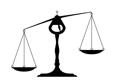 unbalanced: detailed illustration of an unbalanced balance Illustration