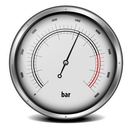 pressure gauge: illustration of a pressure meter gauge