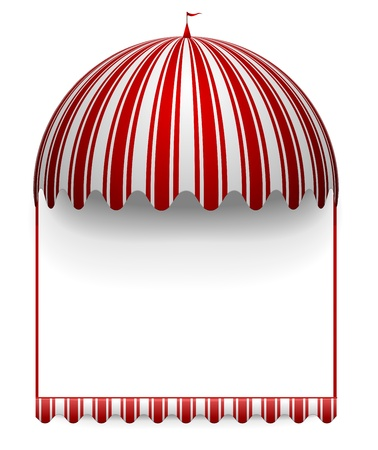 detailed illustration of a carnivals frame with a round circus awning on top Vector