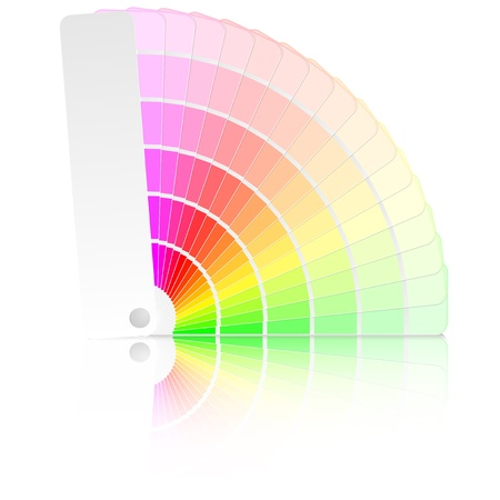 color swatch: detailed illustration of a color guide with different colors and swatches
