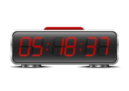 digital clock: detailed illustration of a digital alarm clock Illustration