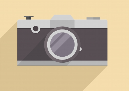 minimalistic illustration of a retro style camera Vector