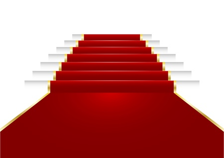 illustration of a red carpet on staircase Stock Vector - 21593611
