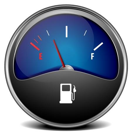 gas gauge: illustration of a motor gas gauge, eps 10 vector