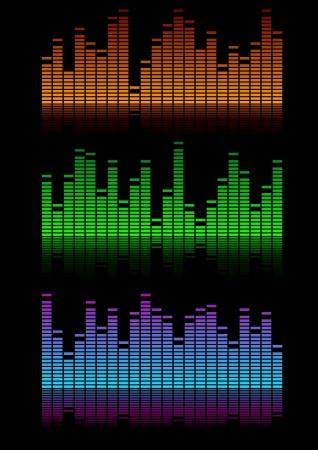 illustration of equalizer visualisations, symbol for music and sound Illustration