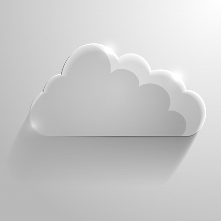 detailed illustration of a glossy cloud, symbol for cloud networking Stock Vector - 22952190