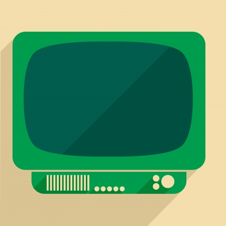 outmoded: minimalistic illustration of a retro style tv set